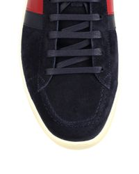 Gucci | Gray Suede Hightop Sneakers for Men | Lyst