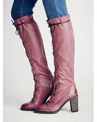 Free People - Purple Fp Collection Womens Memphis Lace Up Boot - Lyst
