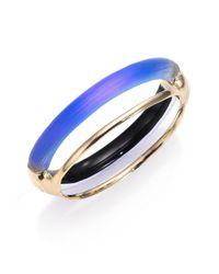 Alexis Bittar | Blue Sport Deco Lucite Double-band Bangle Bracelet | Lyst
