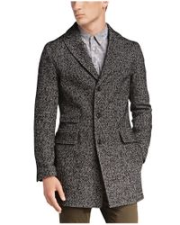 BOSS Orange | Black Short Coat 'barrets' In Salt-and-pepper Look for Men | Lyst