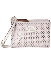 Guess | Gray Park Lane Petite Double Zip Crossbody | Lyst