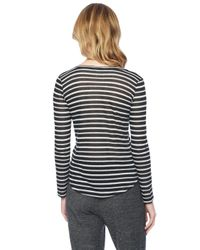 Splendid - Black Valletta Stripe Top - Lyst