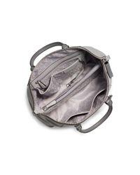 Michael Kors - Gray Riley Large Leather Satchel - Lyst