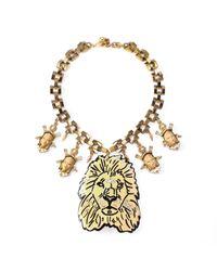 Lulu Frost - Metallic Leo Collage Necklace - Lyst