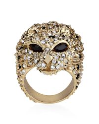 Saint Laurent | Metallic Lion Head Ring | Lyst