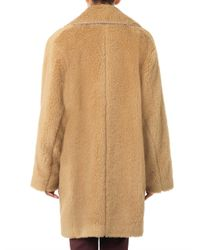 Rochas - Brown Boiled Wool Coat - Lyst