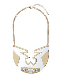 TOPSHOP | Metallic Acrylic Disc Necklace | Lyst