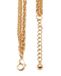Forever 21 - Metallic Faux Pearl & Chain Necklace - Lyst