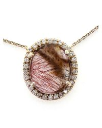 Kimberly Mcdonald | Gray Super Seven Quartz And Diamond Pendent Necklace | Lyst