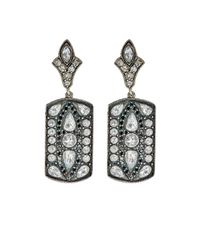 Sevan Biçakci | Metallic Women's Mixed-diamond Rectangular Drop Earrings | Lyst
