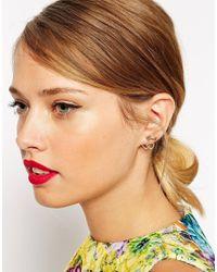ASOS | Metallic Key Heart Swing Earrings | Lyst