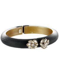 Alexis Bittar | Black Marquis Hinged Bracelet | Lyst