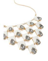 Trina Turk - White Rubber Statement Necklace - Lyst