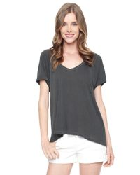 Splendid | Gray Vintage Whisper Rolled Cuff Top | Lyst