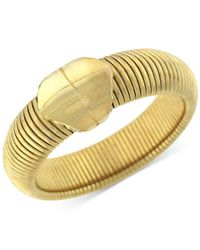 BCBGeneration | Metallic Gold-tone Omega Chain Bangle Bracelet | Lyst