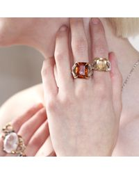 Tessa Metcalfe | Metallic Antique Citrine Claws Of Engagement | Lyst