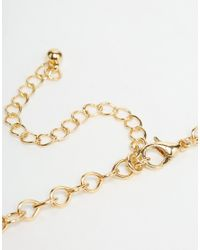 ASOS - Metallic Premium Choker Necklace - Lyst
