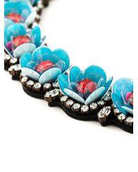 Shourouk - Blue 'daisy' Necklace - Lyst