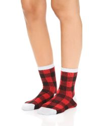 Madewell | Buffalo Check Trouser Socks - Scarborough Red | Lyst