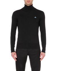 Vivienne Westwood | Black Classic Roll-neck Orb Jumper - For Men for Men | Lyst