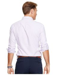 Polo Ralph Lauren - Purple Big And Tall Classic-fit Oxford Shirt for Men - Lyst