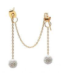 Noir Jewelry | Metallic Billie Dangle Earrings | Lyst