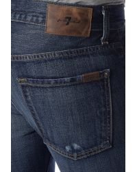 7 For All Mankind - Blue Vintage 7 Collection: Paxtyn Skinny With Clean Pocket for Men - Lyst