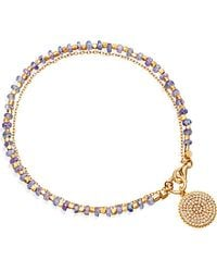 Astley Clarke | Metallic Tanzanite Icon 14ct Gold, Tanzanite And Diamond Bracelet | Lyst
