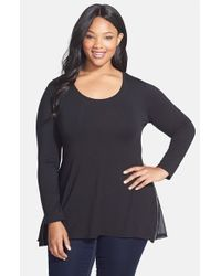 Lyssé | Black Side Zip Long Sleeve Top | Lyst