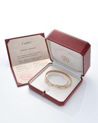 Cartier - Metallic Love Bracelet - Vintage - Lyst