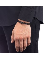 Lulu Frost | Black George Frost Leverage Wrap Bracelet for Men | Lyst