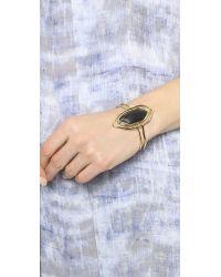 Alexis Bittar - Metallic Liquid Metal Flipper Cuff Bracelet Black - Lyst