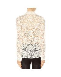 Dolce & Gabbana - Natural Lace Shirt - Lyst