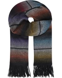 Paul Smith - Multicolor Block Knit Wool Scarf for Men - Lyst