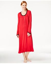 Eileen West - Red Long Sleeve Nightgown - Lyst