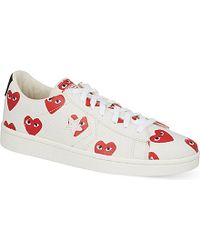 Play Comme des Garçons | Red Women's Heart-print Pro Sneakers | Lyst