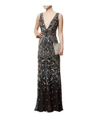 Alice + Olivia - Black Marnee Plunging V-neck Gown - Lyst