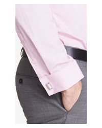 Express - Pink Slim French Cuff 1mx Shirt for Men - Lyst
