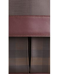 Burberry - Purple Smoked Check Messenger Bag for Men - Lyst