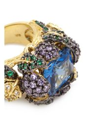 Anabela Chan | Yellow 'blueberry' 18k Gold Solitaire Sapphire Cocktail Ring | Lyst