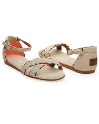 TOMS - Natural Burlap Women'S Correa Sandals - Lyst