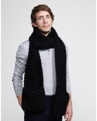 Wool And The Gang | Black Jolly Pocket Scarf for Men | Lyst