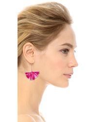 Aurelie Bidermann - Purple Enameled Gingko Leaf Earrings Pivoine - Lyst