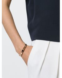 Tory Burch | Pink Cut Out Logo Bangle | Lyst