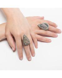 Pamela Love | Gray Striped Jasper Ring - Size 6 | Lyst
