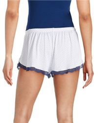 Joe's Jeans | White Lace-accented Sleep Shorts | Lyst