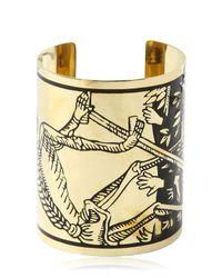 KTZ - Metallic La Mort Tarot Brass Cuff Bracelet - Lyst