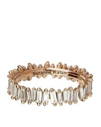 Suzanne Kalan | Metallic Rose Gold Baguette Diamond Ring | Lyst