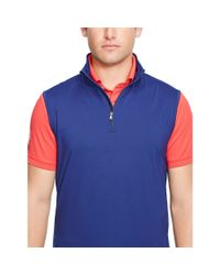 Ralph Lauren | Blue Performance Half-zip Vest for Men | Lyst