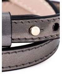 BVLGARI - Gray Serpenti Head Wrap Bracelet - Lyst